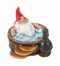 BRAND NEW GNAUGHTY GNOMES HOT TUB GARDEN ORNAMENT