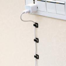 18pcs Self-adhesive Line Cable Clip Wire Organizer Buckle Plastic Clips Fixer