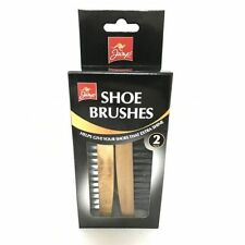 Jump Set of 2 Shoe Boot Cleaning Brushes for Leather Shoes Gives Extra Shine