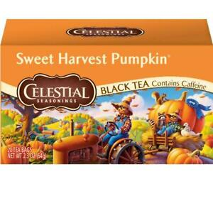 1 Box of Celestial Seasonings Sweet Harvest Pumpkin Black Tea 20 Bags BB 8/27/22