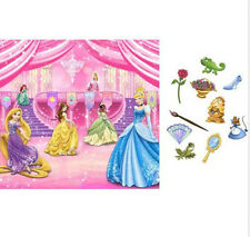 DISNEY PRINCESS Scene Setter HAPPY BIRTHDAY party wall decoration kit + 11 props