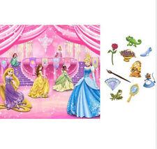 DISNEY PRINCESS Scene Setter HAPPY BIRTHDAY party wall decoration kit + 11 props