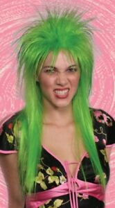 80'S ADULT PUNK LONG ROCKER POP SPIKY SPIKE EMO ELVIRA HEAVY METAL COSTUME WIG