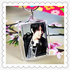 10 Transparent Blank Acrylic Photo Picture Frame Keyring Keychain DIY Key Ring