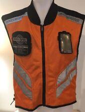 Icon Motosports Mil-Spec High-Visibility Orange Mesh Motorcycle Vest Regular