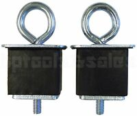 2pc Universal Truck Bed Anchor Points Tie Down Hooks Loops Chrome Plated Metal