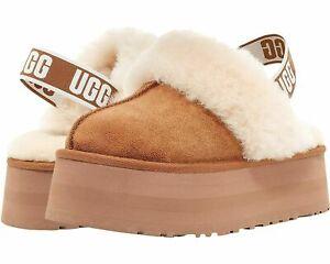 [1113474-CHE] UGG Women's Funkette Platform Clog Suede Slippers Chestnut *NEW*