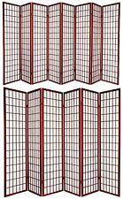 3,4,5,6,8, 10  Panel Oriental Style Shoji Screen Room Divider Cherry Color