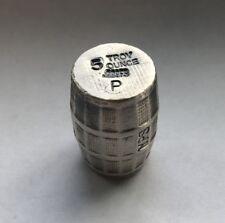 "5oz YPS ""Barrel"" 999+ fine silver bullion bar ""Yeager's Poured Silver"" 4D"