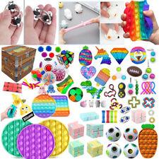 1-100Pack Popit Figet Fidget Toys Sensory Tools Bundle Stress ADHD Relief Autism