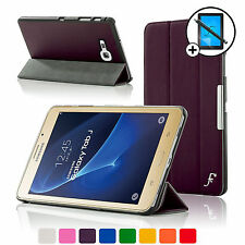 Leather Purple Folding Smart Case Samsung Galaxy Tab J J Max Screen Prot Stylus