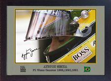 AYRTON Senna SIGNED AUTOGRAFATO FORMULA 1 MCLAREN HONDA incorniciato.