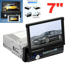 1 Din 7 Android Car Mp5 Player Stereo Radio Touch Screen Bluetooth Usb Gps Flip Fits Truck
