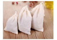 5x Cotton Muslin Coffee Cheese Milk Filter Bag Spices Tea Drawstring