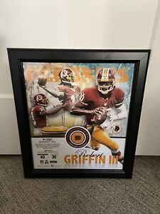 Robert Griffin III Debut Mounted Memories Piece of Game Used Football 30/510