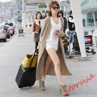 womens cashmere cardigan sweater coat long korea Slim Fit casual jacket Autumn