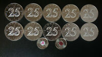 Silver 10 Coins Maple Leaf 25th Anniversary 2013 99.99% Pure RARE plus FREE gift
