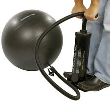 """Isokinetics Inc. Exercise Ball Air Pump Multiple Nozzles 18"""" Pumps Up & Down"""