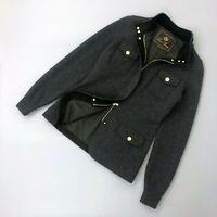 Loro Piana Ladies Grey CASHMERE Bomber Jacket Short Coat Size S IT40 UK8 US2