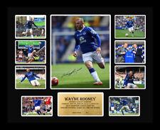 New Wayne Rooney Signed Everton Limited Edition Memorabilia Framed