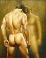 CHOP604 strong nude man with 100%  hand painted oil painting canvas art