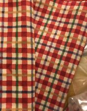 * Longaberger Cherry Red Plaid Lovely Fabric For Your Picnic Pal Basket 2566631