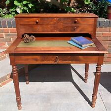 Antique Victorian Ladies Writing Desk / Small Bureau - Pull Out Panel & Keys!!