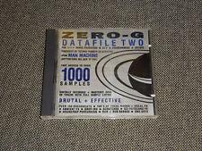 ZERO-G Datafile Two (2) - Sampling CD 1991 Ed Stratton Dance Producer DJs Techno