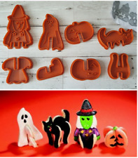 Halloween Cookie Cutters Make Standing 3D Witch Ghost Pumpkin Cat By AVON Unused