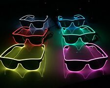 6 Pairs Of Cool Flashing Neon LED Sunglasses (Fancy Dress) Stag Do Hen Party