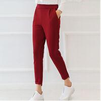 Vogue Korean Style Slim Straight Leg Leisure Women Harem Summer Pants Trousers