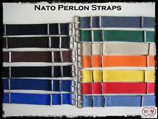 Cinturini Nato Perlon fibbia silver 20mm. Perlon Nylon Vintage Straps.