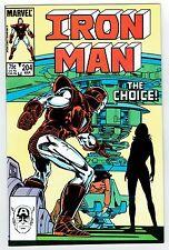 Iron Man #204 Marvel Comics Copper Age 1985 VF/NM The Choice! High Grade Copy