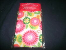1 NEW Flowers/Leaves Book Cover Stretchable Fabric Sox School Student sock