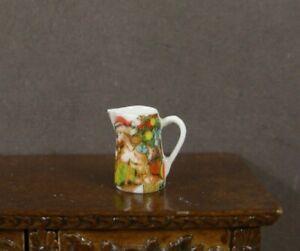 PORCELAIN  PITCHER / JUG ~Dollhouse~ England ~ 1:12 scale ~ Artisan ~ Christmas