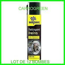 12 bombes nettoyant frein bardahl 600 ml