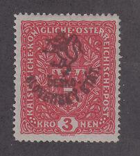 Austria, Czechoslovakia Netto 59 MLH. 1916-17 3h Hluboka w/ Provisional ovpt