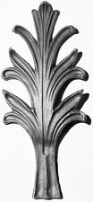 Wrought Iron Gates/railhead - Leaf - L13 - 2 off