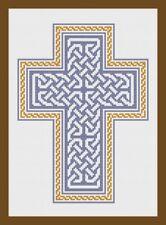 Croix Celtique Bleu Point de croix kit par florashell