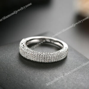 Engagement Ring Band Women's Gorgeous Solid 14K White Gold 0.5ct SI/H Diamonds