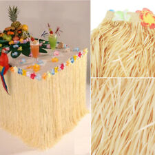 9Ft Hawaiian Luau Beach Colorful Flower Grass Party Table Skirt Cover Decoration