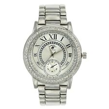 US Beverly Hills Polo Club Women's Watch Rhinestone-Accent Silver-Tone Watch