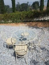 O.W. LEE 'Espresso' Vintage 1960's Wrought Iron Patio Set - made in California