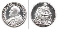 MEDAGLIA ARGENTATA FONDO A SPECCHIO PAPA GIOVANNI XXIII JOANNES XXIII - LA PIETA