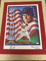 Nolan Ryan Signed Ron Lewis Signed Number Art Print -  # 108/2500 Free Shipping