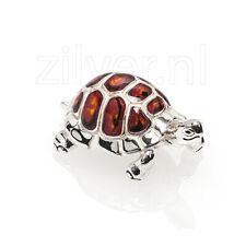 Saturno zilveren miniatuur schildpad
