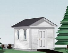 SHED PLANS BLUEPRINTS  10 FT x 12 FT CLASSICAL  STYLE