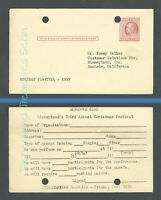 Disneyland Vintage Postcard 1957 Holiday Festival Group Performance Request