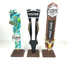 Lot of 3 Evans Brewing Beer Tap Handles Krhopen, Premium Lager & Special Release