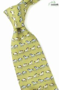 "Ganji Horse Theme 3.5"" Wide Silk Print Tie"